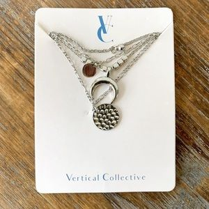 Vertical Collective Celestial Lariat Necklace